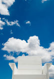 White seat under blue sky Stock Images