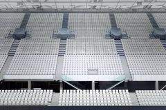 White seats in the large stadium Royalty Free Stock Image