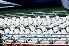 White Seats on an Open Ferry Stock Images
