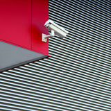 White security camera Royalty Free Stock Photos