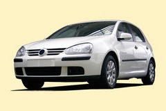 White sedan car. From a series of  cars with clipping paths Stock Photography