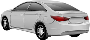 White Sedan Car. Vector Royalty Free Stock Photography