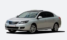 White sedan front view Stock Image
