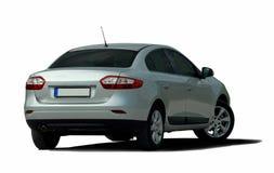 White sedan rear view Royalty Free Stock Photos