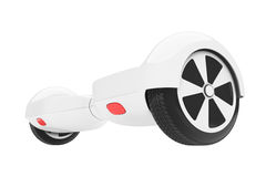 White Self Balancing Electric Scooter. 3d Rendering Stock Image