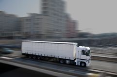 White semi-truck Royalty Free Stock Images