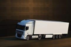 White semi truck Stock Photography