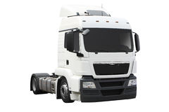 White semi truck Stock Photo