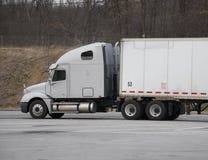 White Semi Truck royalty free stock photos