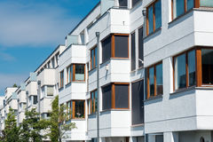 White serial houses in Berlin Stock Image