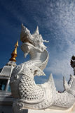 White serpent statue Royalty Free Stock Photo