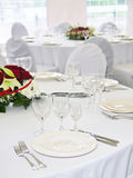White served tables Royalty Free Stock Photography