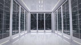 White server room in modern data center