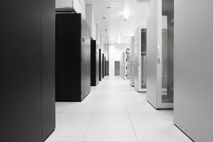 White Server Room Network Royalty Free Stock Photo