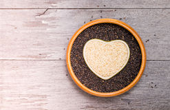 White sesame and black sesame seed Royalty Free Stock Images