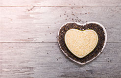 White sesame and black sesame seed Royalty Free Stock Photography