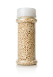 White sesame in a jar Royalty Free Stock Image