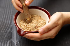 White sesame seed Royalty Free Stock Photo