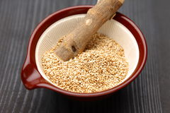 White sesame seed Stock Photo