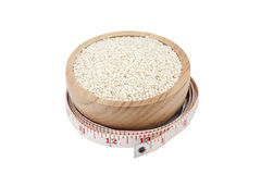 White sesame seeds Royalty Free Stock Image