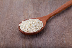 White sesame seeds Royalty Free Stock Images