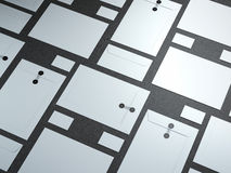 White set of branding elements Stock Image