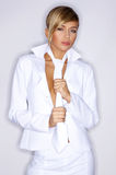 White Sexy Tie Royalty Free Stock Image