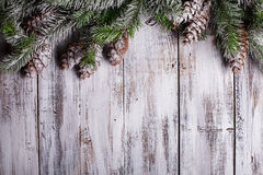 White shabby Christmas border Royalty Free Stock Photos