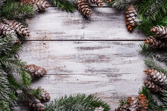White shabby Christmas border royalty free stock photo
