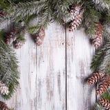 White shabby Christmas border Royalty Free Stock Photography