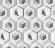 White shaded abstract geometric pattern. Origami paper style. 3D rendering background. vector illustration