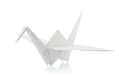 White shadoof of origami Royalty Free Stock Photo