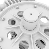 White shafts, gears and bearings Stock Photography