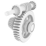 White shafts, gears and bearings Royalty Free Stock Image