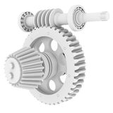 White shafts, gears and bearings Royalty Free Stock Images