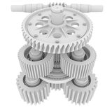 White shafts, gears and bearings Royalty Free Stock Photography