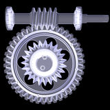 White shafts, gears and bearings Stock Image