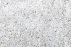 White shaggy carpet texture Stock Photos