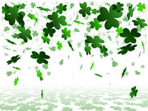 White shamrock background Royalty Free Stock Photography