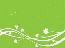 White Shamrock with Green Background Stock Photos