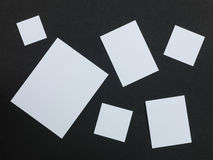 White Shapes on a Black Background Stock Photo