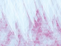 Pink white background. White shapes on pink with white polygon abstract background royalty free illustration