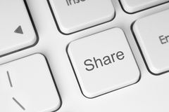 White share keyboard button Stock Images