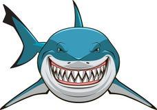 White shark. Vector illustration, toothy white shark Vector Illustration