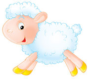 White sheep. Isolated clip-art and children's illustration for yours design, postcard, album, cover, scrapbook, etc Royalty Free Stock Image