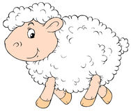 White Sheep. Vector clip-art / children's book illustration for your design Royalty Free Stock Images