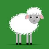 White sheep. Vector illustration of cute cartoon sheep stock illustration