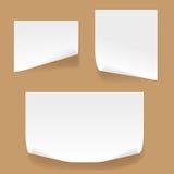 White sheet. White sheet of paper of selfgluing. Vector Stock Photo