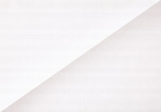 White sheet of folded  paper Royalty Free Stock Photography