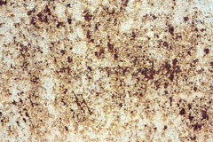 White sheet metal with a rust. Painted white sheet metal with a rust spot Stock Photo